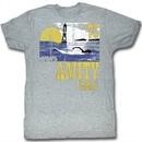 Jaws Shirt Amity Island 75 Adult Grey Tee T-Shirt