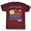 Jaws Shirt Amity Island Maroon Heather T-Shirt