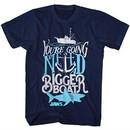 Jaws Shirt Bigger Boat Navy T-Shirt