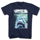 Jaws Shirt Folded Movie Poster Navy Blue T-Shirt