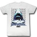Jaws Shirt Jawsome Adult White Tee T-Shirt