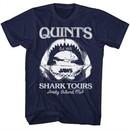 Jaws Shirt Quints Shark Tours Navy T-Shirt