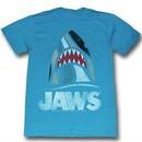 Jaws Shirt Shark Adult Turquoise Tee T-Shirt