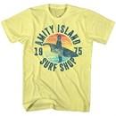Jaws Shirt Surf Shop 1975 Yellow T-Shirt