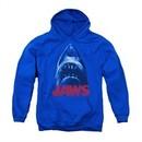 Jaws Youth Hoodie From Below Royal Blue Kids Hoody