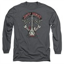 Jeff Beck Long Sleeve Shirt Beckabilly Guitar Charcoal Tee T-Shirt
