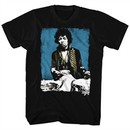 Jimi Hendrix Shirt Blue Drums Black T-Shirt