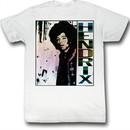 Jimi Hendrix Shirt Fade White T-Shirt
