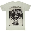 Jimi Hendrix Shirt Jimi At The Spectrum Adult Natural Tee T-Shirt