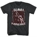 Jimi Hendrix Shirt Night Tripper 2 Black Heather T-Shirt