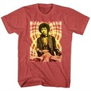 Jimi Hendrix Shirt Psychedelic Red Heather T-Shirt