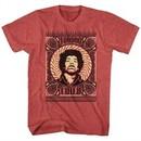 Jimi Hendrix Shirt Voodoo Child Red Heather T-Shirt