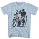 John Wayne Shirt Duke Light Blue T-Shirt