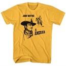 John Wayne Shirt Is America Gold T-Shirt