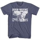 John Wayne Shirt Made In America Heather Blue T-Shirt