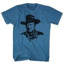 John Wayne Shirt The Duke Heather Blue T-Shirt