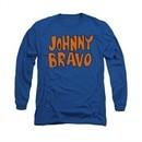 Johnny Bravo Shirt Long Sleeve Jb Logo Royal Blue Tee T-Shirt