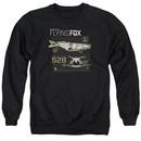 Justice League Movie Flying Fox Adult Black Sweatshirt
