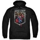 Justice League Movie Hoodie Charge Black Sweatshirt Hoody