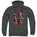Justice League Movie Hoodie League of Six Charcoal Sweatshirt Hoody