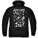 Justice League Movie Hoodie Pushing Forward Black Sweatshirt Hoody