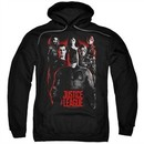 Justice League Movie Hoodie The League Red Glow Black Sweatshirt Hoody