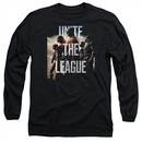 Justice League Movie Long Sleeve Dawn Unite the League Black T-Shirt