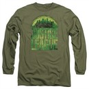 Justice League Movie Long Sleeve Shirt Kryptonite Military Tee T-Shirt