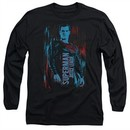 Justice League Movie Long Sleeve Shirt Superman Black Tee T-Shirt