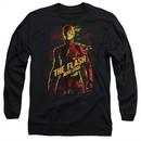 Justice League Movie Long Sleeve Shirt The Flash Black Tee T-Shirt