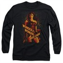 Justice League Movie Long Sleeve Shirt Wonder Woman Black Tee T-Shirt