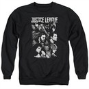 Justice League Movie Pushing Forward Adult Black Sweatshirt