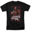 Justice League Movie Shirt Cyborg Profile Black T-Shirt