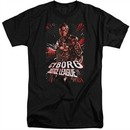 Justice League Movie Shirt Cyborg Profile Black Tall T-Shirt