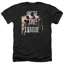 Justice League Movie Shirt Dawn Unite the League Heather Black T-Shirt