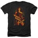 Justice League Movie Shirt Wonder Woman Heather Black T-Shirt
