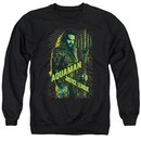 Justice League Movie Sweatshirt Aquaman Adult Black Sweat Shirt