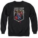 Justice League Movie Sweatshirt Charge Adult Black Sweat Shirt