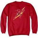 Justice League Movie Sweatshirt Flash Forward Adult Red Sweat Shirt