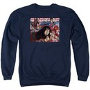 Justice League Movie Sweatshirt Rally Adult Navy Sweat Shirt