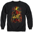 Justice League Movie Sweatshirt The Flash Adult Black Sweat Shirt