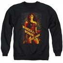 Justice League Movie Sweatshirt Wonder Woman Adult Black Sweat Shirt