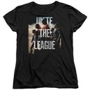 Justice League Movie Womens Shirt Dawn Unite the League Black T-Shirt