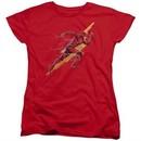 Justice League Movie Womens Shirt Flash Forward Red T-Shirt