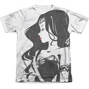 Justice League Movie Wonder Woman Profile Poly/Cotton Sublimation Tee