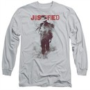Justified Long Sleeve Shirt Ink Washed Silver Tee T-Shirt