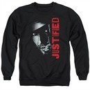 Justified Sweatshirt Raylan Givens Gun Adult Black Sweat Shirt