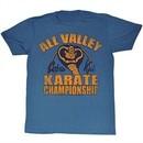 Karate Kid Shirt All Valley Adult Heather Blue Tee T-Shirt