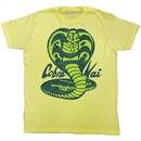 Karate Kid Shirt Pretty Cobra Kai Adult Yellow Tee T-Shirt