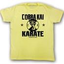 Karate Kid T-Shirt Movie New CK Adult Yellow Tee Shirt